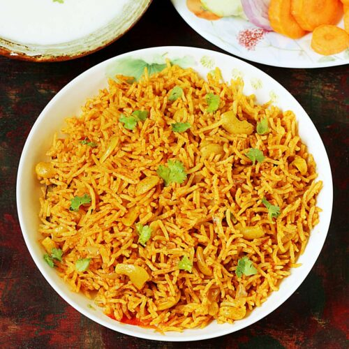 tomato rice made in South Indian style