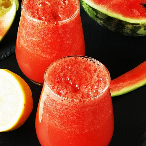 watermelon juice served in a glass