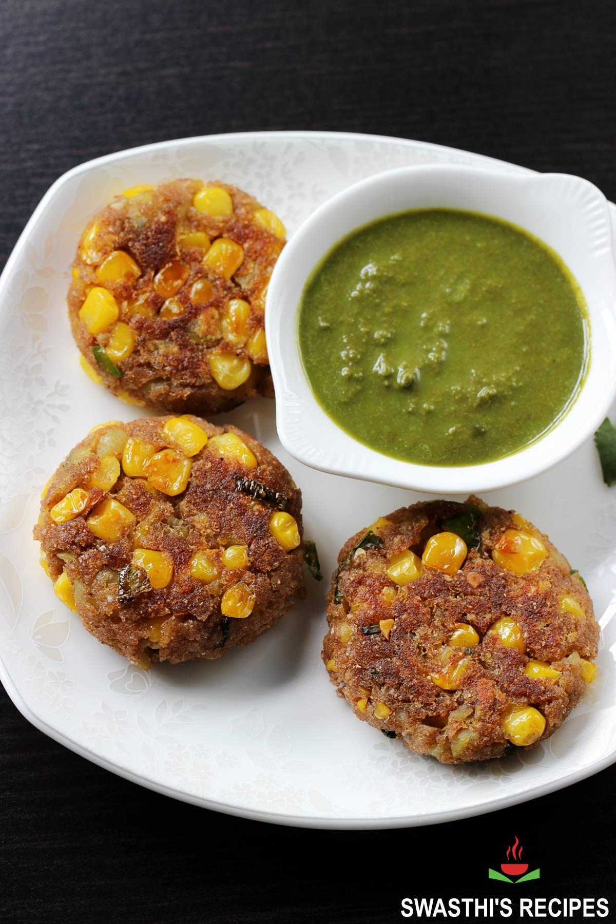 Corn cutlet - Corn patties