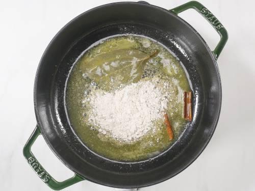 oat flour in butter