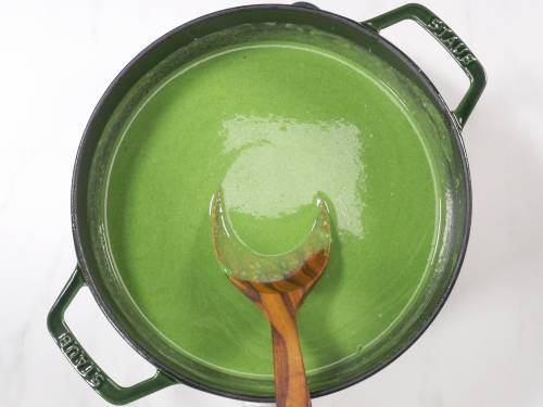 simmer spinach soup