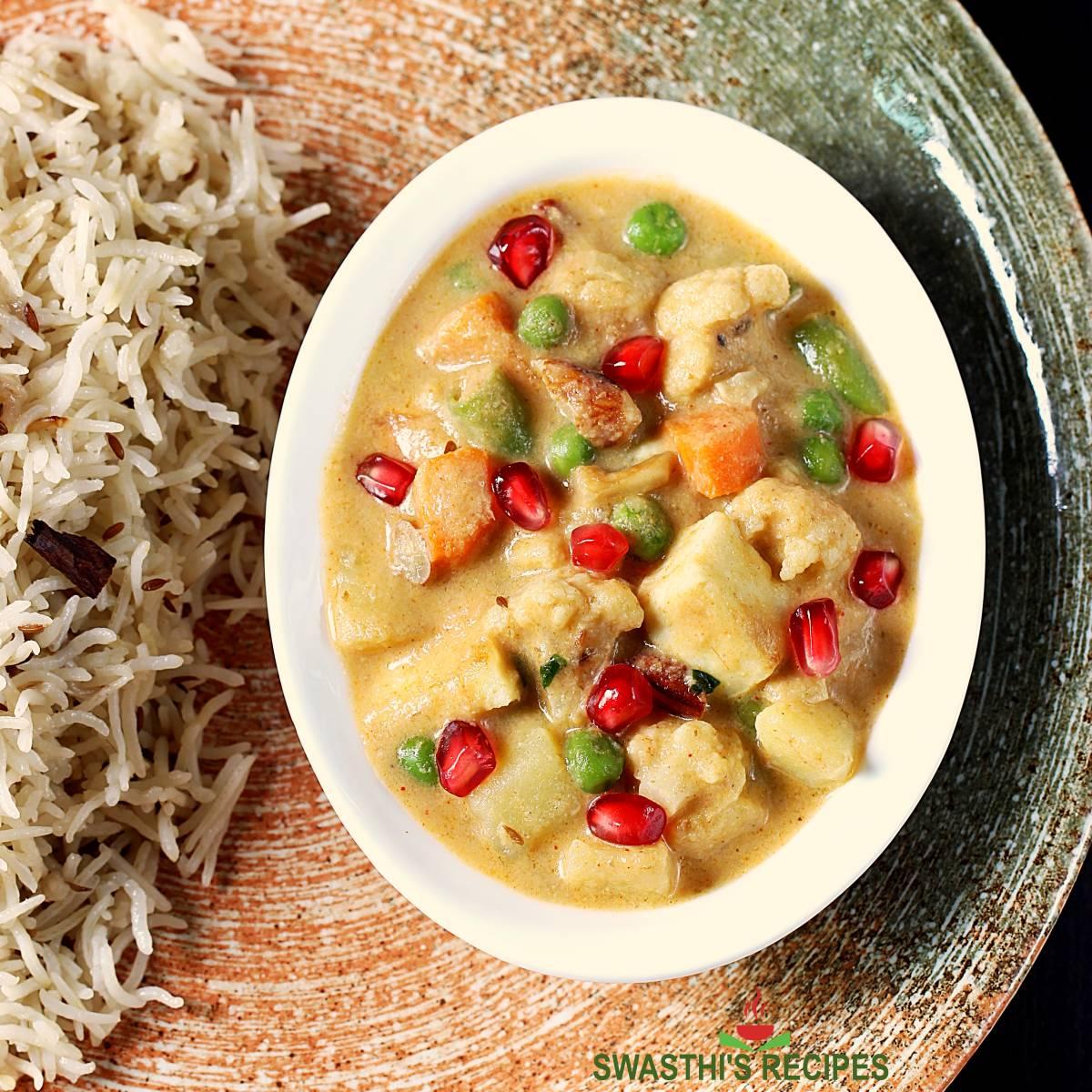 Navratan korma recipe made in restaurant style